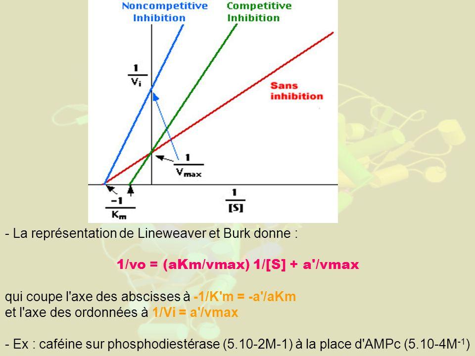 1/vo = (aKm/vmax) 1/[S] + a /vmax